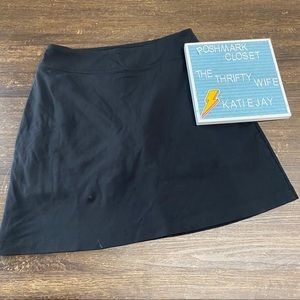 Athleta Black Comfy Skirt with Shorts Small Tall